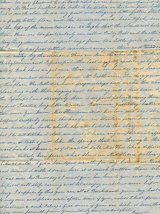 Augusta Healy 1846 letter