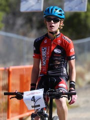 Durango teenager Quinn Simmons finishes the Road Apple Rally Saturday at Lions Wilderness Park in Farmington.