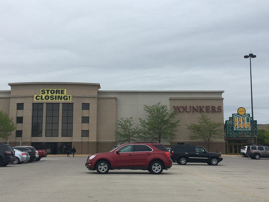 Store closing banners now hang on the Bay Park Square Younkers store.