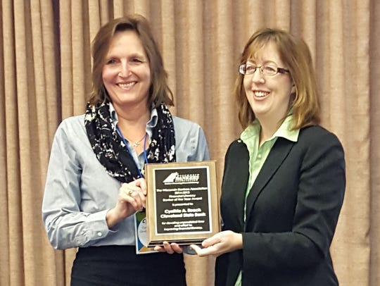 Cynthia Roeck, of Cleveland State Bank, earned recognition