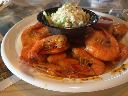 Old Fish Houses' Monday night special was bottomless shrimp and salad.