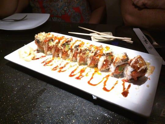 Wasabi Thai Sushi's giant Godzilla roll was a beautiful