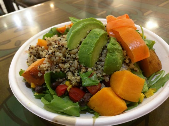 Counter Culture's quinoa bowl with tomatoes, roasted
