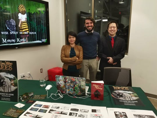 Guam-raised Cherisse Datu (left) is a game designer for The Girl Who Sees, a fantasy adventure game about a Filipina girl set in World War II.
