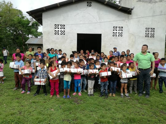 "Children from one of the newest networks, San Dionisio, received ""Boxes of Joy"" filled with school supplies and other necessities."