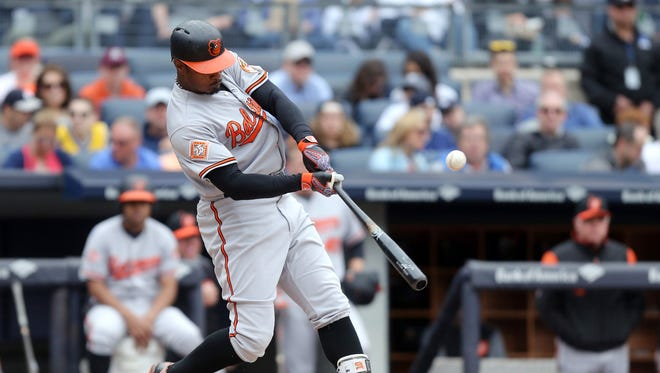 Adam Jones and the Orioles visited the Red Sox at Fenway Park on Monday.