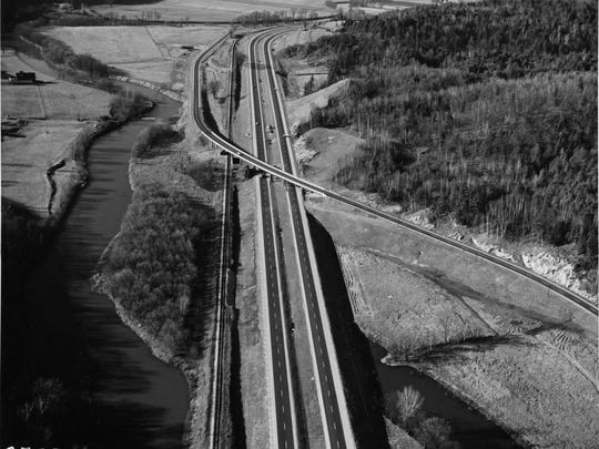 middlesex interstate 89 arial view 3 november 22 1960