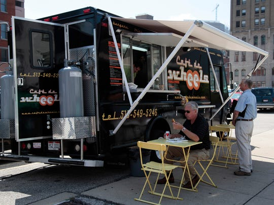 Cafe de Wheels at its location at Walnut and Court streets Downtown.
