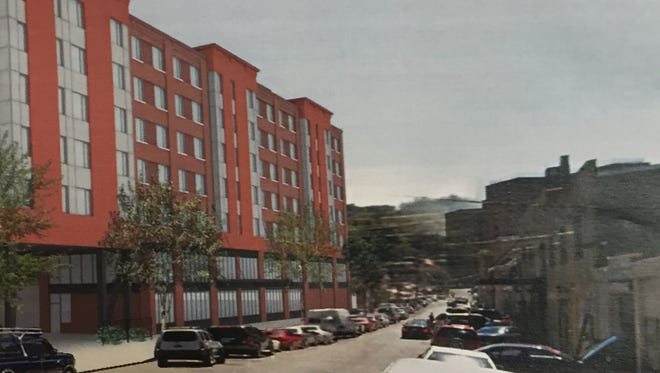 An artist's rendering of the affordable housing proposed for 10 School St. in Yonkers by St. Joseph's Medical Center.