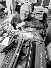 Bob Terrell at his home office in 1999.