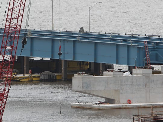 Steel girders for the new Tappan Zee Bridge are starting to be placed on the Rockland side of the structure. As the future crossing takes shape above the river, more details are being provided for a bus rapid transit system, which is due to begin operation on the new bridge.