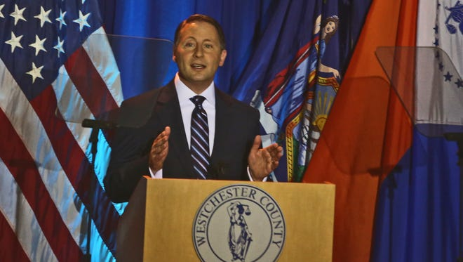 Westchester County Executive Rob Astorino delivers his 2015 State of the County Address at the Westchester County Courthouse April 22, 2015.