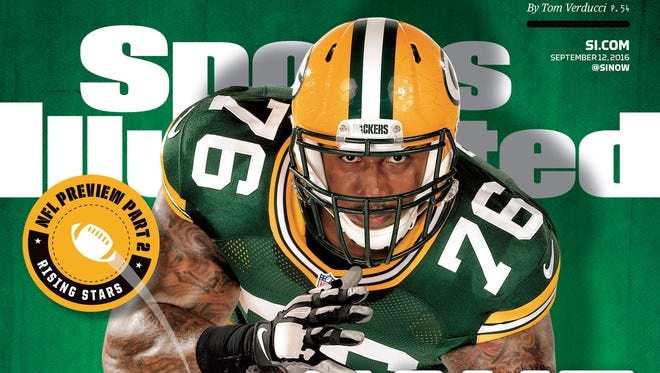 Mike Daniels appears on one of four regional Sports Illustrated covers prior to the  start of the 2016 NFL regular season.