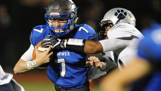 Utica Eisenhower QB Max Wittwer completed 88 of 141 passes for 1,677 yards and 21 TDs.