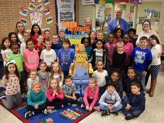 Holly Heights Elementary School first and third graders
