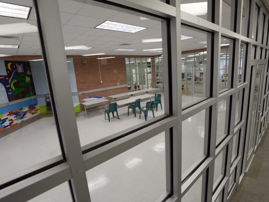 a new library nears completion at the Caddo Parish