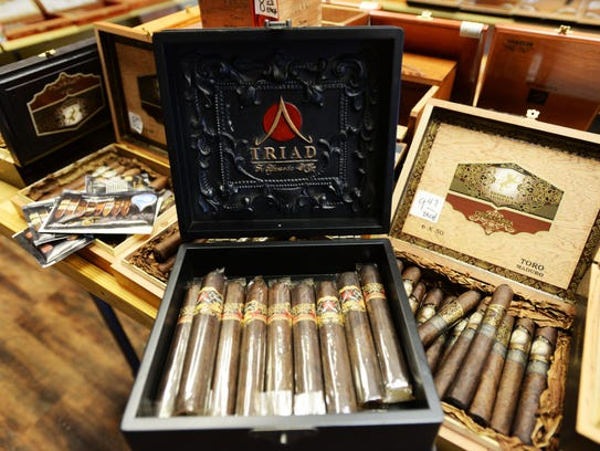 Triad cigars at M.A.'s Smokehouse.