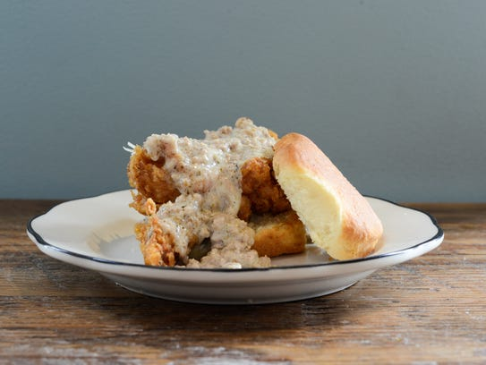 "Biscuit Love's ""East Nasty,"" a biscuit with a boneless"