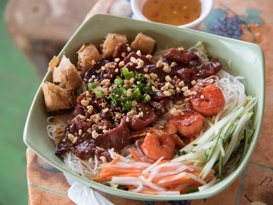 Try the vermicelli #47 (grilled shrimp, sliced pork