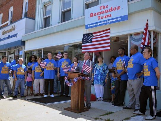 Vineland mayor Ruben Bermudez announces his reelection