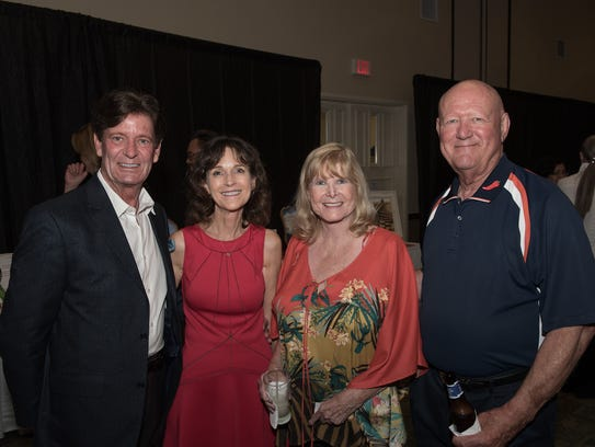 Jim Gallegly, left, Kimmie Caldwell, Judy Wendt, and