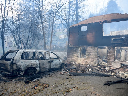 Out of control wild fires have burned multiple business