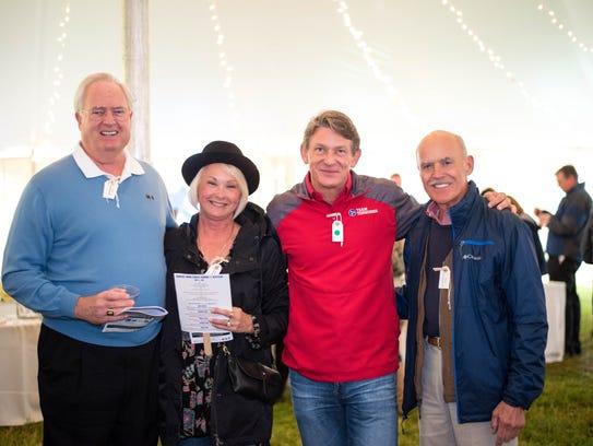 Board members Sam Furrow and Jenny Boyd with Randy