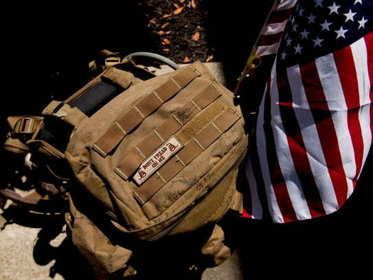 The backpack Ernesto Rodriguez, Army vet carried with