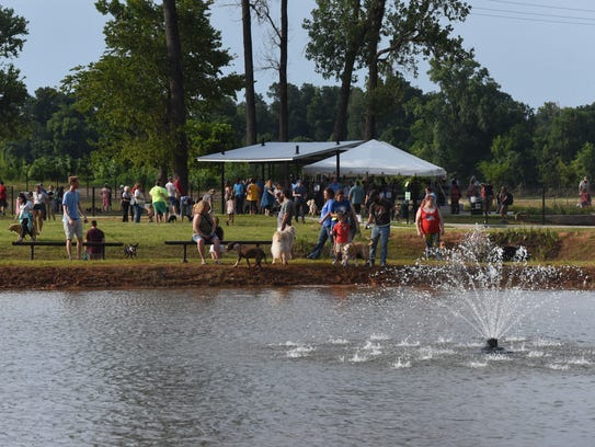 Dogs enjoy the first day that the Shreveport Dog Park