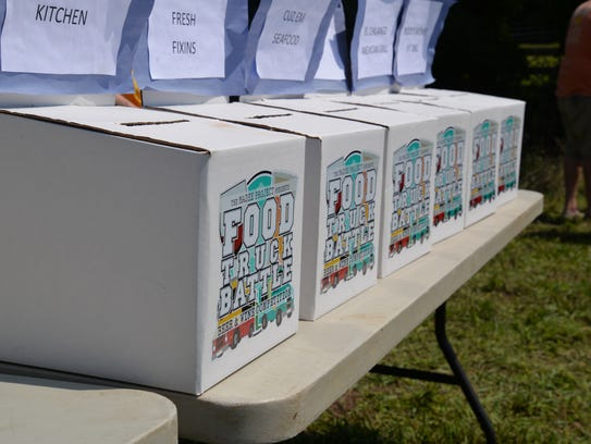 Voting boxes at the third annual Virginia Food Truck