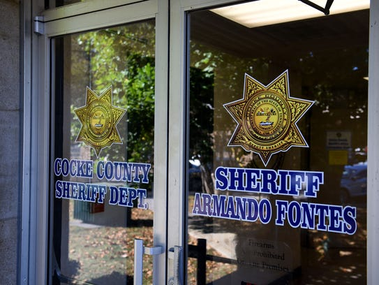 The Sheriff's office inside the Cocke County Courthouse