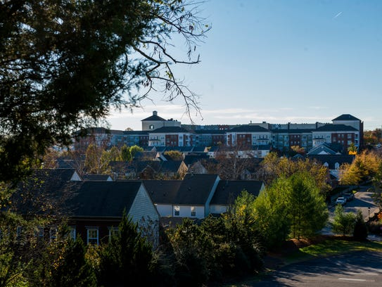 Town homes and apartments at Lenox Village in Nashville.