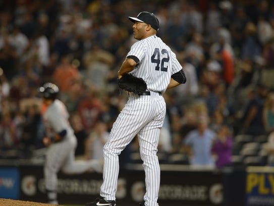 Detroit at Yankees.  New York Yankees #42 Mariano Rivera