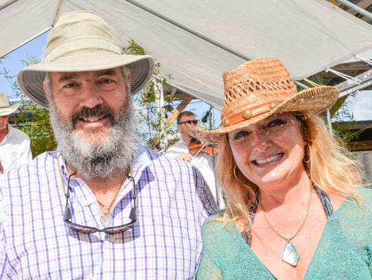 Jerry and Tamara Renick, sponsors with Ecotone Farm,