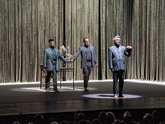 David Byrne is joined by other singers and performers