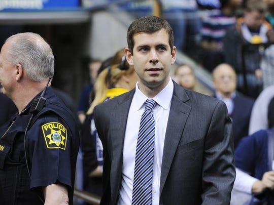Former Butler coach Brad Stevens begins his second season with the Celtics.
