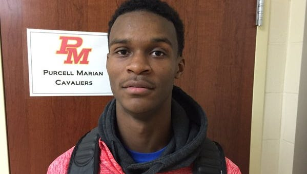 Purcell Marian senior guard Rashaad Ali-Shakir needs 25  3-pointers to become the all-time GCL-Co-Ed conference leader.