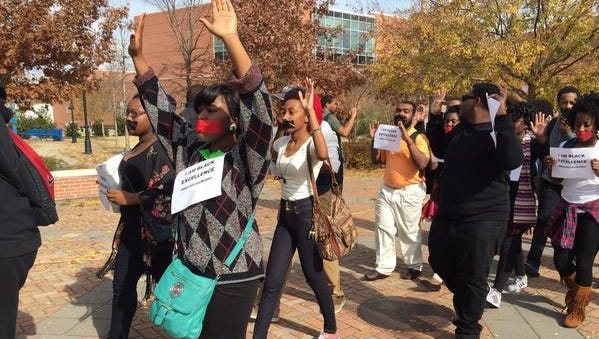 Protest over Ferguson at Jackson State University