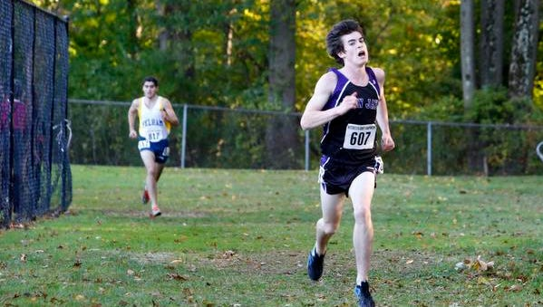 John Jay's Eion Nohilly won the boys title at the Westchester County Cross Country Championships with a time of 16:42.0 Saturday at Woodlands High School in Hartsdale.