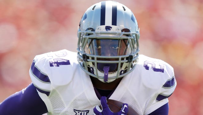 Kansas State running back Charles Jones has scored all four of his touchdowns out of the Wildcat formation this season.