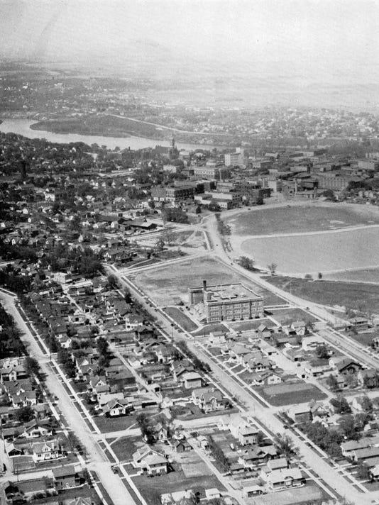 Tech HS aerial view