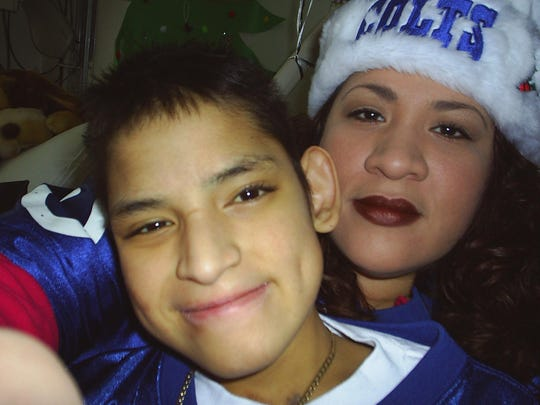 Charmaine Mercado with her son, JC, who died in 2008.