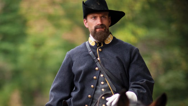 An re-enactor at Conner Prairie Interactive History Park in Fishers portrays Confederate Gen. John Hunt Morgan as part of the exhibit 1863 Civil War Journey: Raid on Indiana.