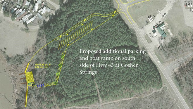A new boat launch and parking lot are in the works for Barnett Reservoir at Goshen Springs.