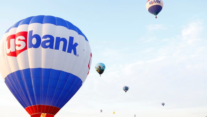 The Great Balloon Charity Race took to the skies Thursday morning.April 26, 2018