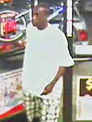 Robbery suspect from surveillance video.