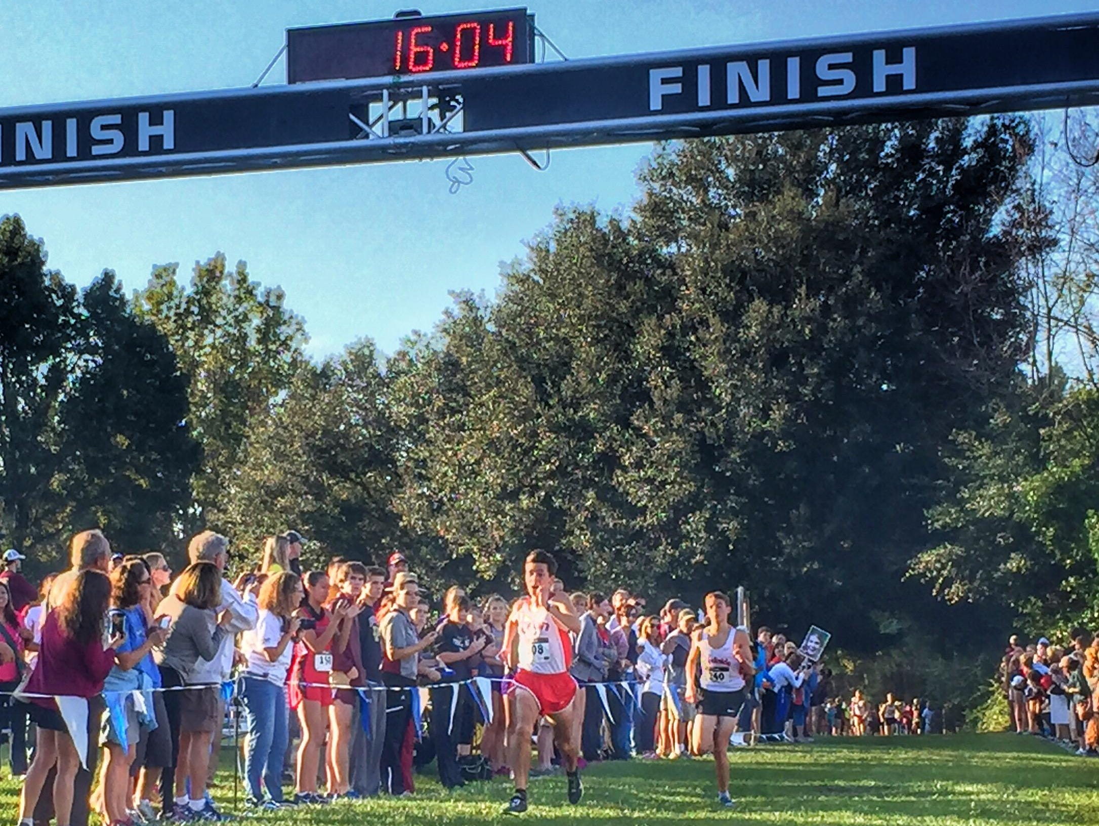Leon junior Matthew Cashin defined his cross country season to this point with a win on Saturday at Alligator Lake in Lake City, capturing a Region 1-3A title with a sprint past Creekside's Matthew Clark.