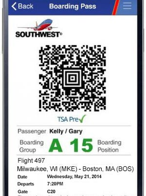 Southwest Mobile Boarding Pass