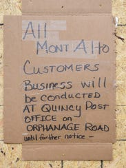 The U. S. Post Office at Mont Alto is closed after