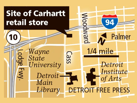 Site of Carhartt retail store